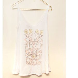WILDFOX Floral Swing Tank Top S